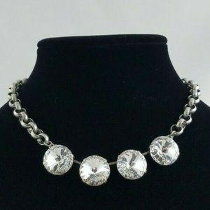 Swarovski 4 Clear 18mm Crystal Necklace